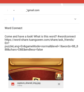 message to be sent for hint ask word connect