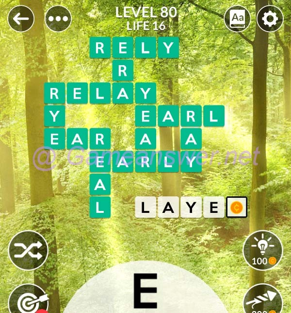 Wordscapes Level 80 Answers  + Bonus Words  - GameAnswer
